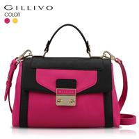 Gillivo 2014 spring new arrival women's handbag vitality fresh color block shoulder bag