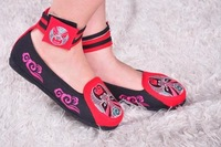 Cotton-made beijing shoes embroidered national trend dance shoes