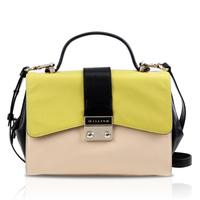 Gillivo color block shaping sweet shoulder bag cowhide portable women's handbag girl bag