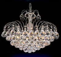 Traditional crystal chandeliers lighting Silver Palace light Luxury Hotel lamp for bedroom Guaranteed 100%Free shipping 9042-550