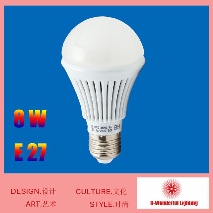 New fashion Design 8W Led E27 head lamp 220v Light Saving Energy Saving Money LED Lamp E27 for Indoor Free shipping(China (Mainland))