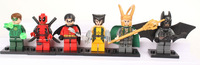 Super Hero Figures Toys 6pcs/lot The Avengers Toys & Hobbies Classic Toys Action Figures Loki Batman Deadpool X-man Robbin