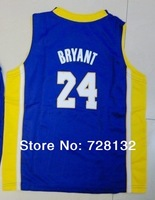 ^_^2014 Kids/youth Los Angeles #24 Kobe Bryant Purple Basketball Jersey Uniforms,baby/child basketballer suits Free ship ePacket