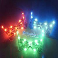 Led glasses halloween decoration christmas party mask horn led glasses flashing glasses 0.06
