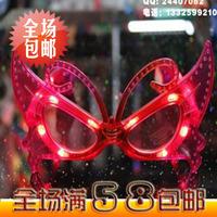 8500 luminous butterfly style glasses flashing glasses led glasses led glasses masquerade party