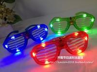 Colorful window blinds flashing glasses led luminous glasses birthday props luminous mask