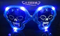 Flash neon led glasses props mask led glasses blue