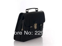 New arrival  men's black  and Blue real full leather totes  Handbags