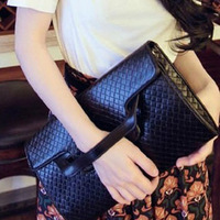 Serpentine pattern crocodile pattern day clutch bag evening bag briefcase one shoulder cross-body women's handbag bag
