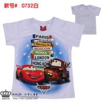 2014 cartoon car t shirt boy kids t shirt clothes minion costume children's clothing children t shirts children's wear