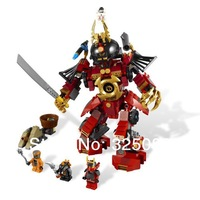 Hot sale! Bela Ninjago samurai mechanical component set 452 children education computer DIY initiation toy, not the original box