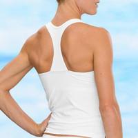 Sun cup vest design women's split swimwear short casual design