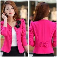Fall 6829 new Korean OL temperament Slim short small suit large size women's small blazers,Plus sizes,flower details
