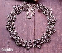 Fashion chain short design vintage necklace three-dimensional   petals female accessories chain accessories
