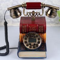 Creative books Button dial phone Antique Caller ID Retro telephone Creativity vintage antique plane Free shipping