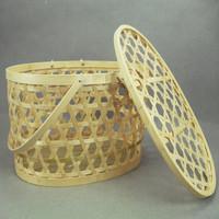 Handmade bamboo basket egg bamboo basket zhukuang cutout baskets dumplings arbutrus gift crab