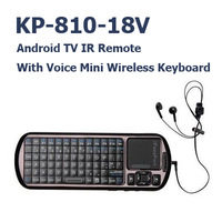 20 Pcs/lot iPazzPort  Wireless Keyboard KP-810-18V Voice Remote 2.4G RF Air mouse controller for TV BOX Touchpad 2 in 1 Russian