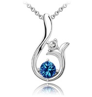 New design Pendant Necklaces For Women Crystal Rhinestone Jewelry Accessories Gift