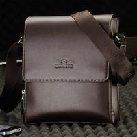 Fashion PU leather commercial male shoulder bag messenger bag business man bag