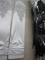 Lan kwai fong sunscreen gloves ultra elastic black and white gloves formal dress gloves spandex gloves