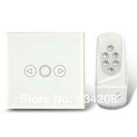 White UK Model Wireless Remote Control Touch Screen Light Dimmer Switch, 1 Gang Home Wall Switch, Waterproof Glass Cover