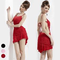Lan kwai fong 21974 Latin dance skirt sexy racerback tassel short skirt child leotard costume adult female
