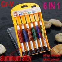 SunRed high hardness 6 in 1 Cr-v  bits -1.4 -2.0 -2.4 ph00 ph0 ph1 precision screwdriver phone notebook diy tool NO.895 freeship