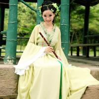 Costume tang suit hanfu child costume guzheng fairies bridesmaid clothes