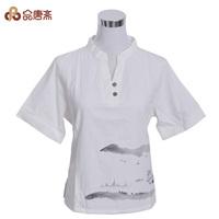 Spring 2014 women's shirt original design top loose pullover V-neck straight shirt
