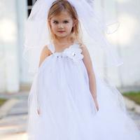 Ellies bridal fashion female child dress summer child dress princess flower girl dress formal dress wedding dress wedding dress