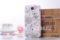 20pcs Free shipping cute girl annimals flowers Striae case for samsung s4