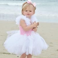 Ellies luxury bridal girls clothing princess dress flower girl dress skirt wedding dress puff skirt