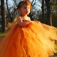 Ellies bridal flower girl child costume skirt wedding dress puff skirt dress princess dress