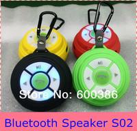 S02 Mini Bluetooth Sports Speaker Louder Speaker Support TF Card Handsfree Portable FM Multi Colors