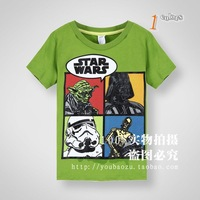 Wholesale 2014 Kids Boys Summer Cotton t-shirt Children Character Tops 4 Pack 2-7 Years Old Kids