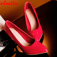 VINLLE 2014 New Thin Heel Pointed Loyal Blue Women's Pumps High Heels women pumps Wedding Shoes size 34-43