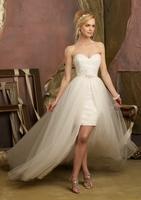 2014 spring slim short trailing wedding dress wedding dress short skirt wedding dress