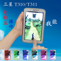 For samsung   t311 t310 holsteins protective case tab3 8.0 transparent tpu case mobile phone sets of clean water silica gel sets