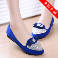 2014 spring female shoes ol princess bow flat shoes flat heel shallow mouth shoes