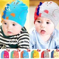 2014 Newest 3D Deer Baby Hats Infant Cap Boys & Grils Beanie Hat Cotton Homies Animal Caps Skull Cap Kids Skullies for 3-24month
