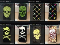 Free Shipping fluorescence case glow in the dark noctilucent case for iphone4 5 skull design case black luminous for iphone5