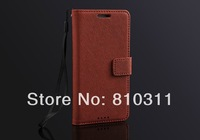 Luxury Business Cross Lines skin PU leather wallet pouch stand flip case cover for HTC One M7 Top quality protective bag