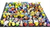 2014 NEW Hot 72pcs /set Pikachu Pokemon Action Figures 2-4cm toy