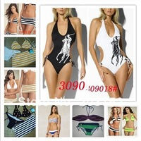 2014 High quality women sexy swimsuits POLO Bikini swimsuit with a chest pad split swimwear classic best-selling models BIKINIS