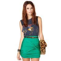 2014 New Milk silk asymmetrical knot ornaments stretch elastic waist skirts Slim skirt Free Shipping O