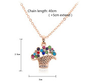 2014 Fashion New Coming Colorful Crystal Generous Luxury Pendent Necklace Gift Jewelry