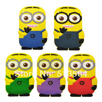 3D Cute Silca Gel Despicable Me 2 Case Minions Silicon Soft Case for ipad mini Free Shipping YU8980