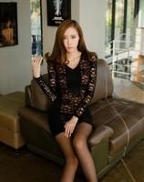 91 2014 patchwork lace slim dresses one-piece dress