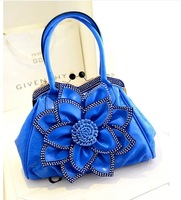 2014 PU women's handbag big flower shoulder bag handbag  Free shipping good quality