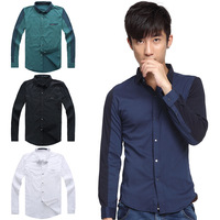 Spring and summer fashion casual fashion slim shirt commercial male fashion men 100% cotton shirt